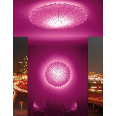 Muse 3-Light LED Flush Mount Shade Color: Red, Size: 47.25 H x 7.5 W X 7.5 D