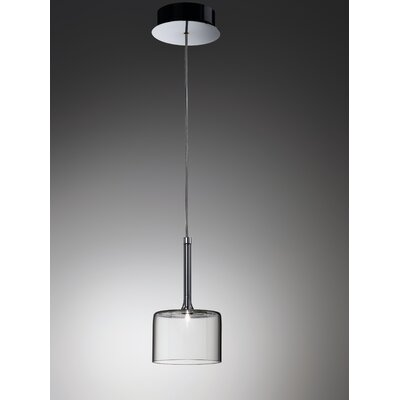 Spillray 1-Light Pendant Width / Glass Color: 3.875 W / Crystal