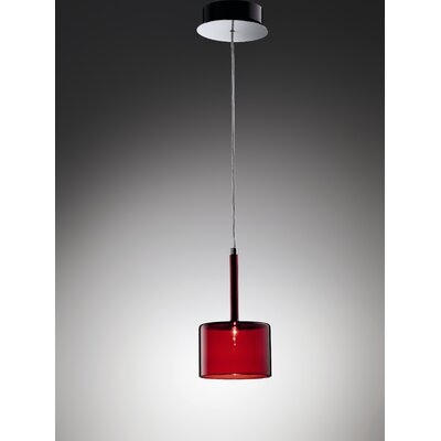 Spillray 1-Light Pendant Width / Glass finish: 3.875 W / Red
