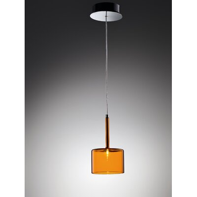 Spillray 1-Light Pendant Width / Glass Color: 5.5 W / Orange