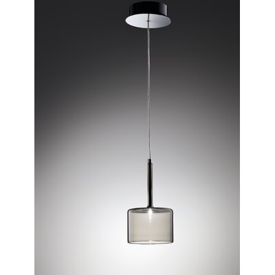 Spillray 1-Light Pendant Width / Glass Color: 3.125 W / Grey