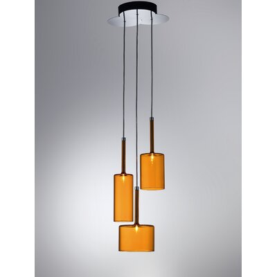 Spillray 3-Light Chandelier Color: Orange