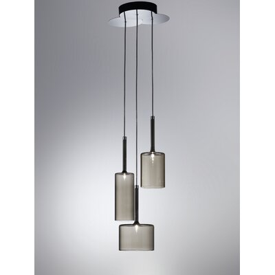Spillray 3-Light Chandelier Color: Grey