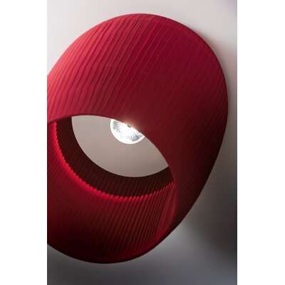 Bell 1-Light Flush Mount Finish: Brick Red, Size: 16.13 H x 11.75 W