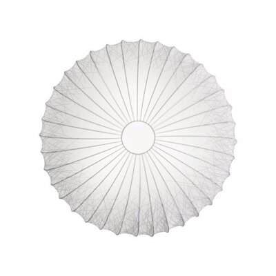 Muse 3-Light Flush Mount Size: Extra Large, Color: White, Bulb Type: Fluorescent