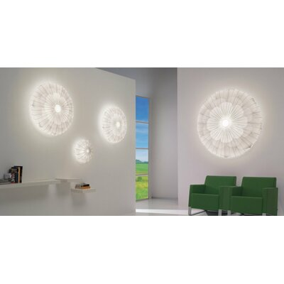 Muse Flower 2-Light Flush Mount Color: Green