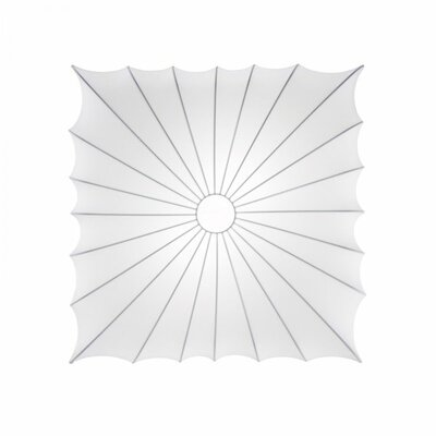 Muse Square Wall / Celing Light Size: Medium, Bulb Type: 2 x 60 W E26