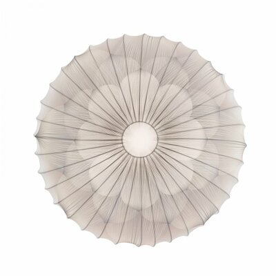 Muse Flower 1-Light Flush Mount Color: White