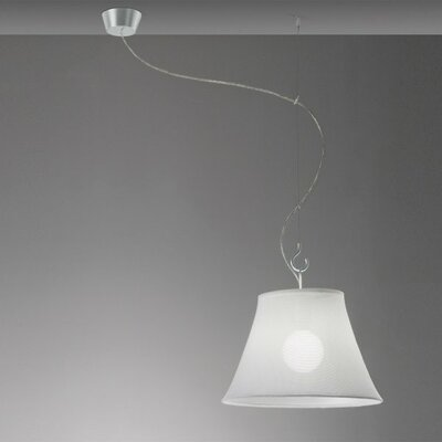 Sunshade 1-Light Off-Center Pendant Shade Color: White