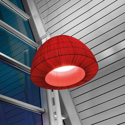 Lightecture Bell Design Pendant Finish: Red Shade, Size: 135.88 H x 35.38 W, Bulb Type: GX24Q-4 Fluorescent