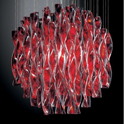 Avir 1-Light Globe Pendant Finish/Color/Size: Polished Steel/Red/Small
