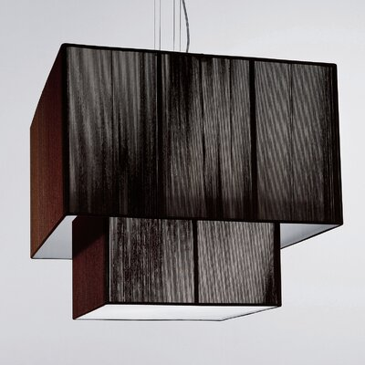 Clavius 4-Light Drum Pendant Color: Tobacco