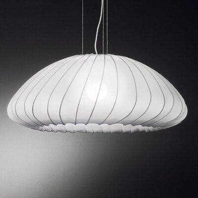 Muse 1-Light Inverted Pendant Color: White
