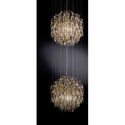 Avir 2-Light Globe Pendant Color/Color/Size: Polished Steel/Tea/Small