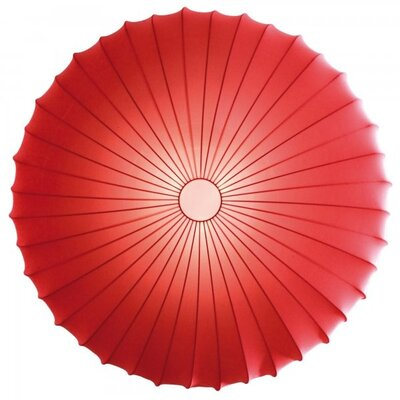 Muse 1-Light Inverted Pendant Color: Red