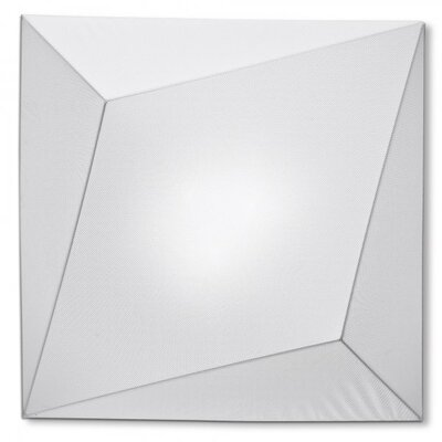 Ukiyo 1-Light Flush Mount Color: White / White, Bulb Type: (3) E26 Max 100W