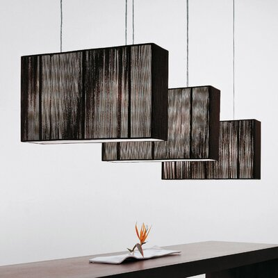 Clavius 2-Light Kitchen Island Pendant Color: Tobacco, Metal Color: Chrome