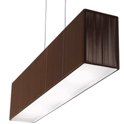 Clavius Linear Pendant Color: Tobacco, Bulb Type: Fluorescent, Metal Color: Chrome
