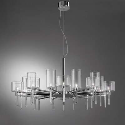 Spillray 20-Light Shaded Chandelier Shade Color: Crystal