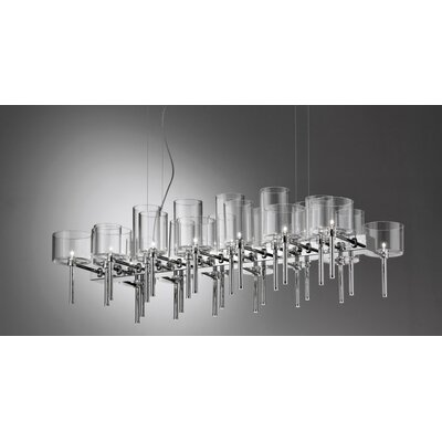 26-Light Kitchen Island Pendant Shade Color: Crystal