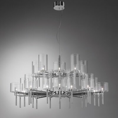 Spillray 30-Light Shaded Chandelier Shade Color: Grey