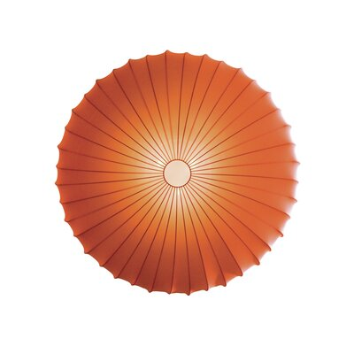Muse 3-Light Flush Mount Size: Extra Large, Color: Orange, Bulb Type: Fluorescent/Incandescent