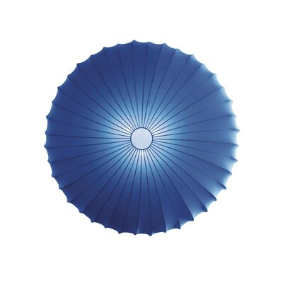 Muse 3-Light Flush Mount Size: Large, Color: Dark Blue, Bulb Type: Fluorescent/Incandescent