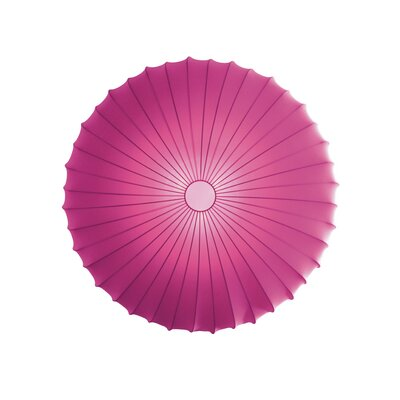 Muse 3-Light Flush Mount Size: Extra Large, Color: Fuchsia, Bulb Type: Fluorescent/Incandescent