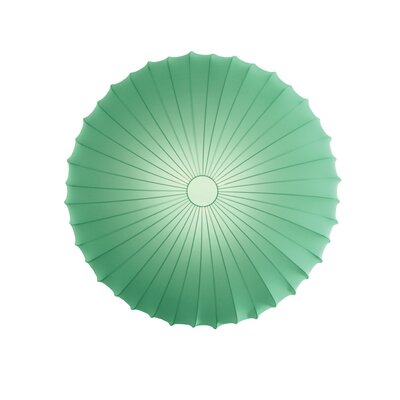 Muse 3-Light Flush Mount Size: Large, Color: Green, Bulb Type: Fluorescent/Incandescent
