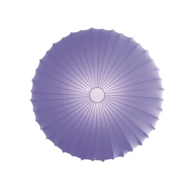 Muse 3-Light Flush Mount Size: Large, Color: Violet, Bulb Type: Fluorescent/Incandescent