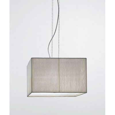 Clavius 4-Light Drum Pendant Color: Sand, Color: Chrome