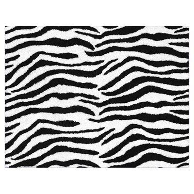 Zebra Floor Purple Area Rug Rug Size: 26 x 3