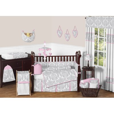 Sweet Jojo Designs Pink and Gray Elizabeth Crib Bedding Collection (3 Pieces) at Sears.com