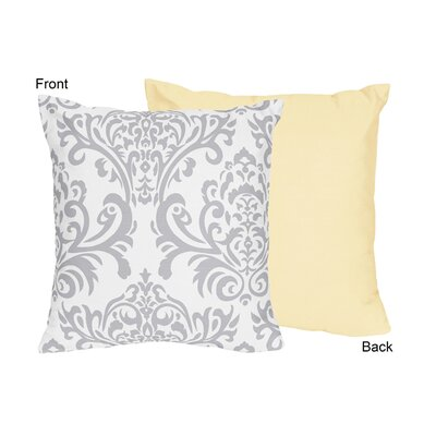 Avery Cotton Throw Pillow Color: Yellow and Gray