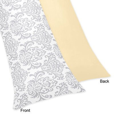 Avery Body Pillowcase Color: Yellow and Gray