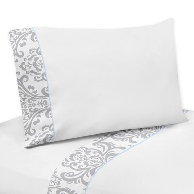 Avery Sheet Set Color: Blue and Gray, Size: Queen