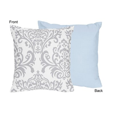 Avery Cotton Throw Pillow Color: Blue and Gray