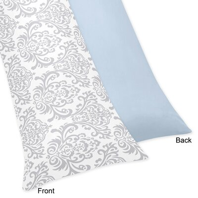 Avery Body Pillowcase Color: Blue and Gray