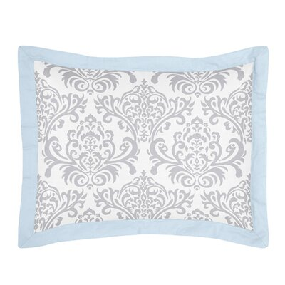 Avery Pillow Sham Color: Blue and Gray