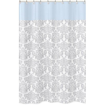 Avery Cotton Shower Curtain Color: Blue and Gray