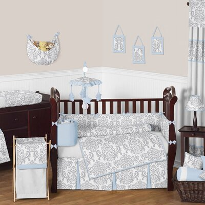 Avery 9 Piece Crib Bedding Set Avery-GY-BU-9