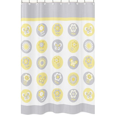 Mod Garden Cotton Blend Shower Curtain