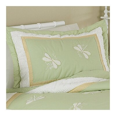 Dragonfly Dreams Pillow Sham Color: Green
