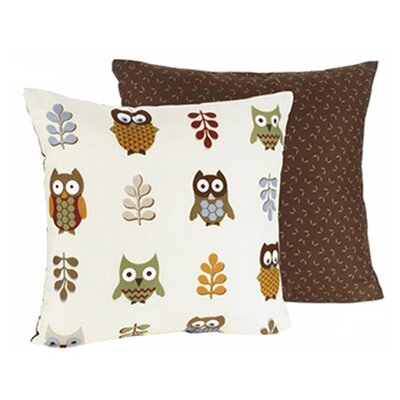 Night Owl Cotton Throw Pillow