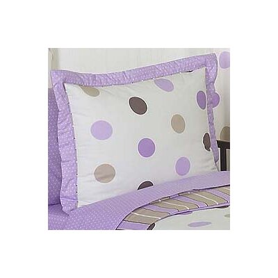 Mod Dots Pillow Sham Color: Purple
