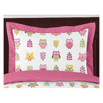 Happy Owl Pillow Sham