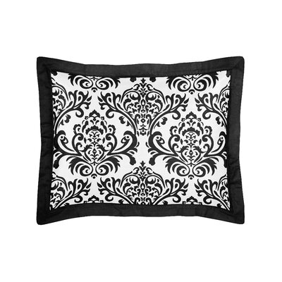 Isabella Pillow Sham Color: Black and White