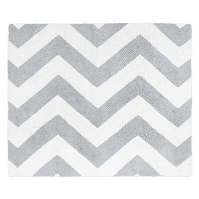 Chevron Gray & White Area Rug