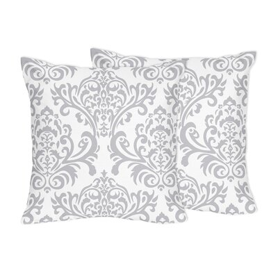 Elizabeth Damask Cotton Throw Pillow