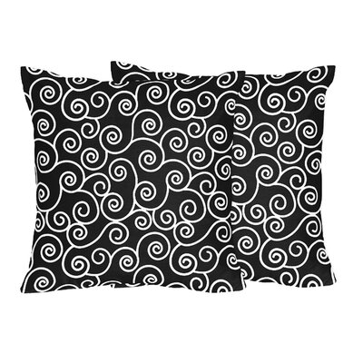 Kaylee and Madison Scroll Cotton Throw Pillow